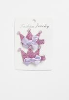 POP CANDY - Crown detailed clips - purple