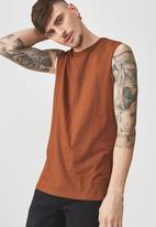 Cotton On - Tbar muscle tank -  brown