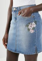 JEEP - Denim skirt - blue