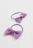 POP CANDY - Bow detailed hairbands - purple
