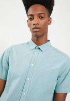 Superbalist - Short sleeve statement shirt - blue