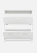 HMS Home - Factory shoe cabinet - white