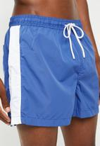Brave Soul - Side stripe swimwear shorts - blue