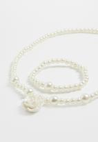 POP CANDY - Necklace and bracelet set - cream