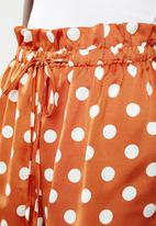 Missguided - Polka dot short - brown