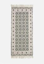 Sixth Floor - Asha printed runner - grey & lilac