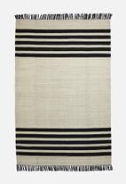 Sixth Floor - Makani woven rug - natural & black