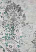 Sixth Floor - Remy printed rug - antique blue & green