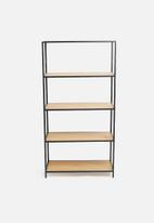 Sixth Floor - Seaford bookcase - natural/black