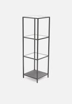 Sixth Floor - Seaford wall unit tall - black