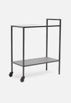 Sixth Floor - Seaford kitchen trolley shelf - black