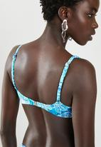 JEEP - Nylon lycra bikini - blue and white