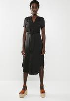 Vero Moda - Alba belt shirt dress black