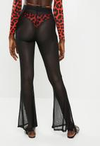 Missguided - Mesh flare trousers - black
