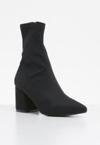 Missguided - Mid heel sock boot - black