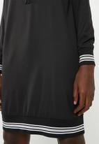 Noisy May - Sarah long sleeve hoodie dress - black