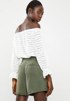 ONLY - Karola 3/4 off shoulder top - cream