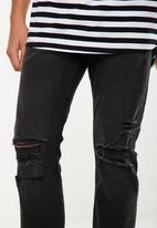 Cotton On - Slim fit ripped jeans - black