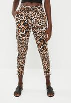 ONLY - Poptrash easy leo pants - black & brown
