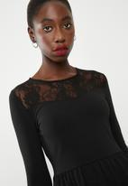 ONLY - Niella lace dress - black