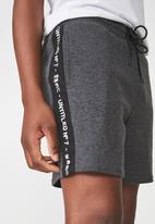 Cotton On - Coar side stripe double knit shorts - grey