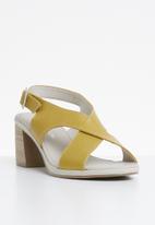Phelan - Slingback leather heel - yellow