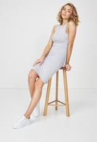 Cotton On - Lena midi dress - grey