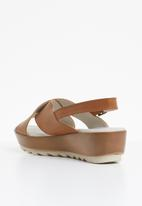 Phelan - Slingback leather flatform - tan