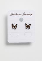 POP CANDY - Butterfly earrings - black
