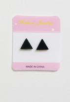 POP CANDY - Geometric earrings - black