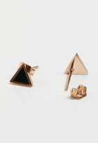 POP CANDY - Geometric earrings - rose gold
