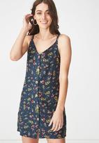 Cotton On - Floral Melissa dress - navy
