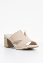 Phelan - Strappy leather mules - beige