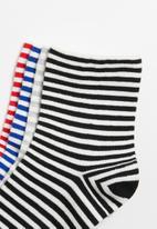 Superbalist - 4 pack stripe ankle socks - multi