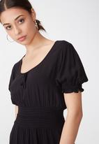 Cotton On - Woven hazel prairie  dress - black