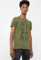 S.P.C.C. - Stamp graphic printed tee - green