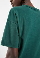 Vero Moda - Mascha short sleeve knot top - green