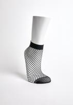Superbalist - Net ankle socks - black