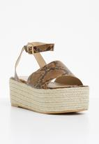Superbalist - Didi espadrille wedge - brown