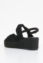 Superbalist - Lilly espadrille heel - black