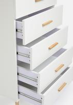 Sixth Floor - Alva 5 drawer storage - white