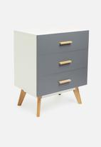 Sixth Floor - Alva 3 drawer storage - grey