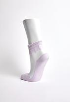 Superbalist - Embroidered mesh socks - purple