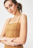 Cotton On - Estee strappy jumpsuit -  gold