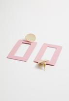 STYLE REPUBLIC - Statement earrings - pink