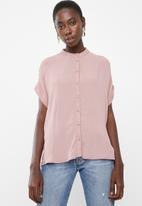 Vero Moda - Daisy tie short sleeve blouse - pink