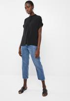 Vero Moda - Daisy tie short sleeve blouse - black