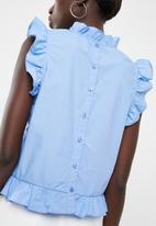 Vero Moda - Crisp frill top - blue