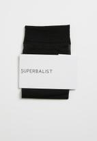 Superbalist - Sheer ankle socks - black