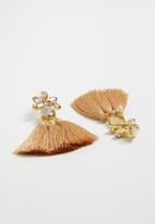STYLE REPUBLIC - Tassel earrings - neutral